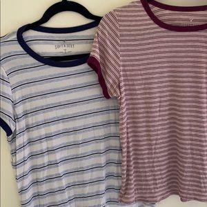 Striped stretchy Tshirts